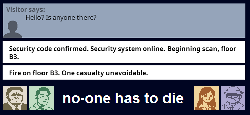 no-one has to die