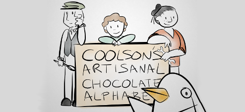 Coolson's Artisanal Chocolate Alphabet