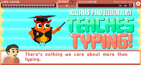 Icarus Proudbottom Teaches Typing