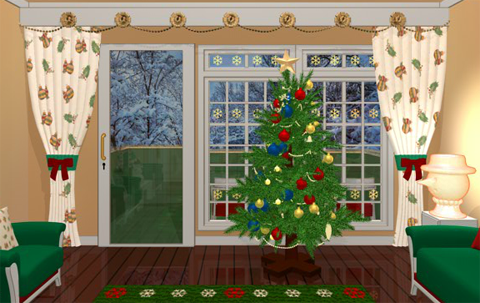 Christmas Decorated Room Escape Game Walkthrough