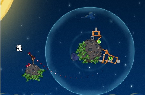 pig blue angry birds space