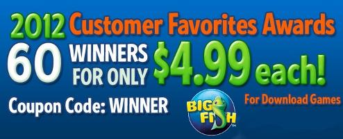 Big Fish Games' Customer Favorites Awards Sale!