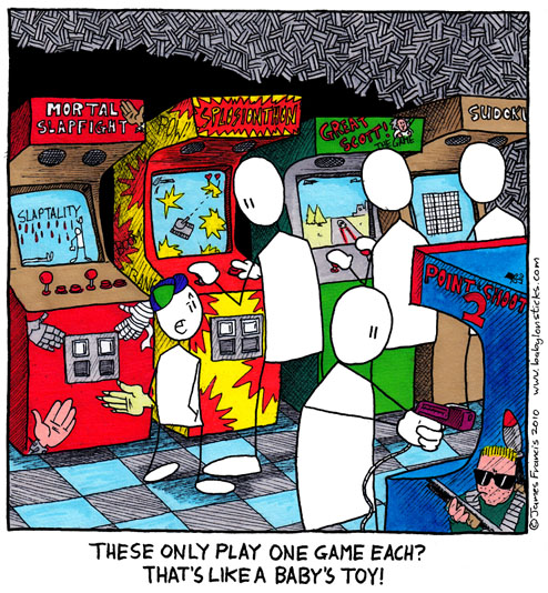 Babylon Sticks: Back To The Arcade comic