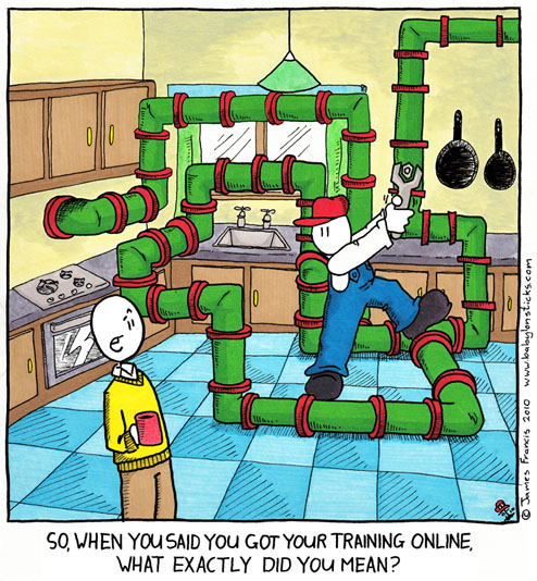 Babylon Sticks: Online Training comic