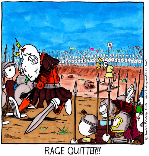 Babylon Sticks: Gaming Philistine comic