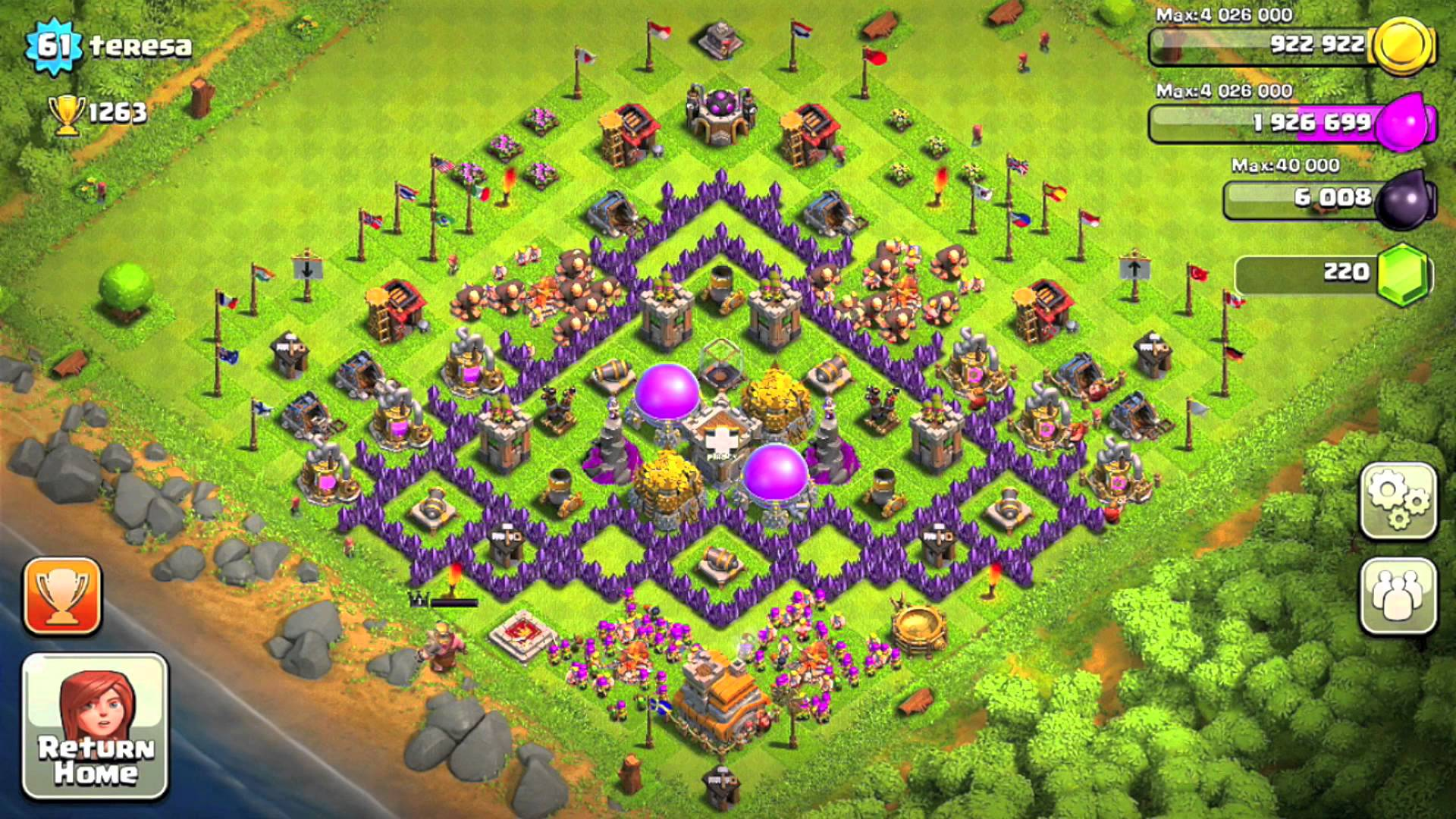 Clash Of Clans Level 7 Base Game And Movie