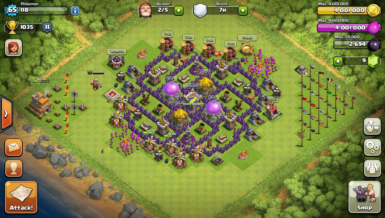 Base Coc Th 7 Unik 3d 2
