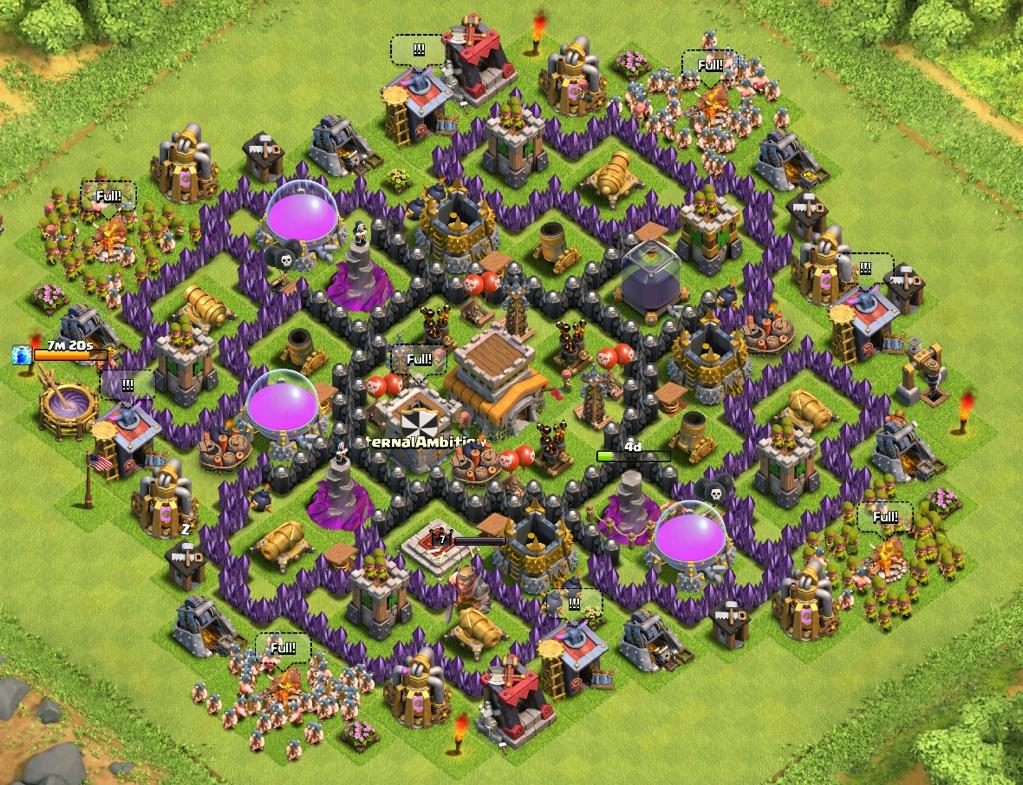 Clash of clans town hall level 8 trophy push
