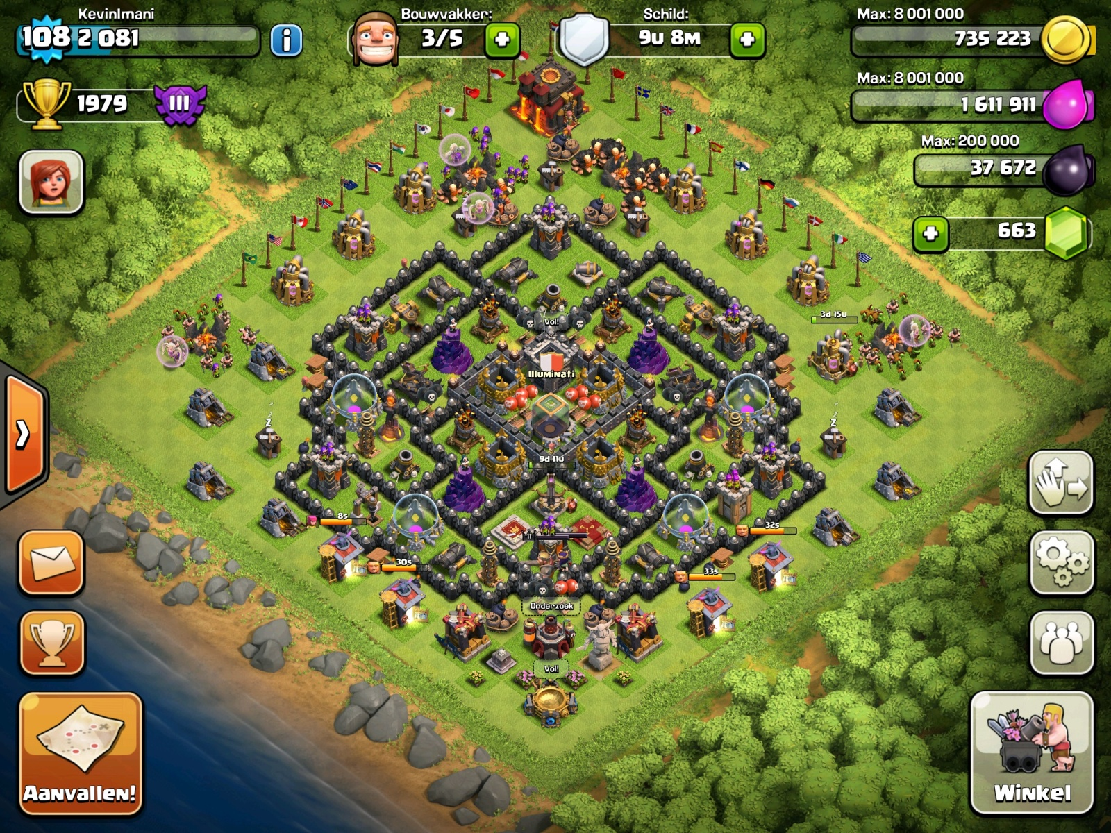 Clash Of Clans Base Designs Per Town Hall Walkthrough