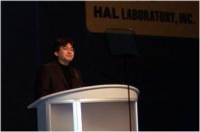 Satoru Iwata delivers keynote address to GDC 2005 attendees