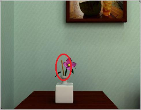 Click On The Flower Sitting Top Of Left End Table Take Piece Wood Sticking Out Vase Screenshot