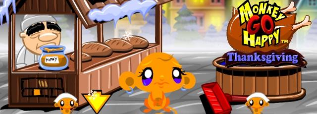 Monkey GO Happy Thanksgiving