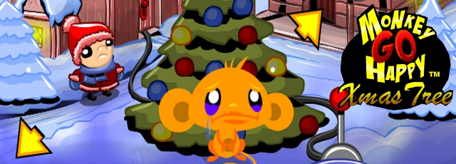 Monkey GO Happy Xmas Tree - Walkthrough, Tips, Review