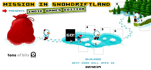 Mission in Snowdriftland: Indie Games Edition