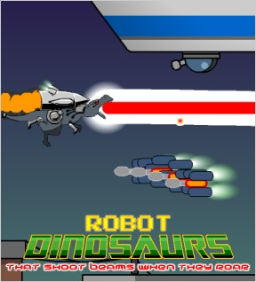 Robot Dinosaurs that Shoot Beams When they Roar