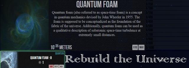 Rebuild the Universe