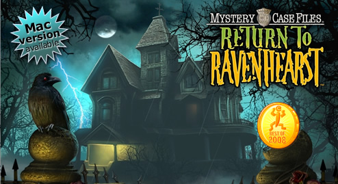 Mystery Case Files: Return to Ravenhearst title screen image